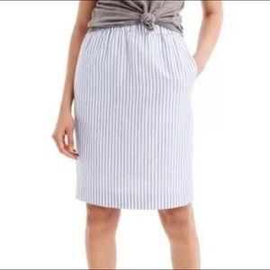 J. Crew Factory Blue Stripe Sidewalk Skirt sz. XXS